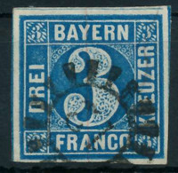 BAYERN MÜHLRADSTEMPEL AUF Nr 2II GMR -12 Gestempelt X8758FE - Bavaria