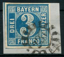 BAYERN MÜHLRADSTEMPEL AUF Nr 2II GMR 237 ZENTR- X87E6EA - Bavaria