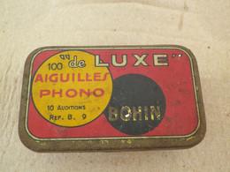 ANCIENNE BOÎTE A AIGUILLES - TETES REPRODUCTEURS DE PHONOGRAPHES - BOHIN DE LUXE - FOURNIE - 78 T - Discos Para Fonógrafos