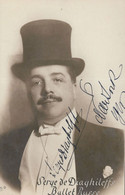 Serge Diaghilev Ballet Russe Russian Signed WW1 Photo V&A Postcard - Musik Und Musikanten