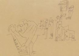 Igor Stravinsky Le Sacre Du Princetemps Ballet 1913 Painting Postcard - Musica E Musicisti