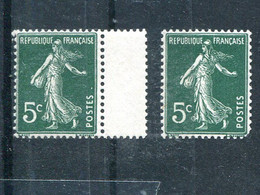 France  5c Sower Mint  VFNH  Separated Pair   - Lakeshore Philatelics - 1945-47 Ceres Of Mazelin