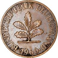 Monnaie, République Fédérale Allemande, 2 Pfennig, 1960, Munich, TB, Bronze - 2 Pfennig