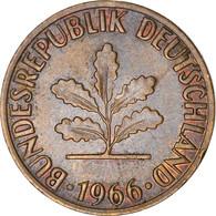 Monnaie, République Fédérale Allemande, 2 Pfennig, 1966, Karlsruhe, TB+ - 2 Pfennig