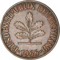 Monnaie, République Fédérale Allemande, 2 Pfennig, 1966, Munich, TB+, Bronze - 2 Pfennig