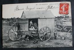CPA Loiret - Beauce - 295. Cabane De Berger – Moutons Chiens – Animée – A Voyagé. - Unclassified