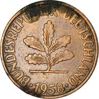 Monnaie, République Fédérale Allemande, 2 Pfennig, 1958, Karlsruhe, TB - 2 Pfennig
