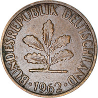 Monnaie, République Fédérale Allemande, 2 Pfennig, 1962, Karlsruhe, TB+ - 2 Pfennig