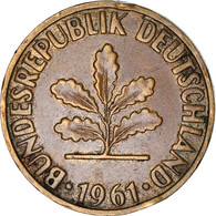 Monnaie, République Fédérale Allemande, 2 Pfennig, 1961, Karlsruhe, TB+ - 2 Pfennig