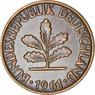 Monnaie, République Fédérale Allemande, 2 Pfennig, 1961, Karlsruhe, TTB+ - 2 Pfennig