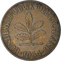 Monnaie, République Fédérale Allemande, 2 Pfennig, 1964, Karlsruhe, TB+ - 2 Pfennig
