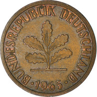Monnaie, République Fédérale Allemande, 2 Pfennig, 1965, Karlsruhe, TB+ - 2 Pfennig