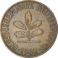Monnaie, République Fédérale Allemande, 2 Pfennig, 1962, Karlsruhe, TTB+ - 2 Pfennig