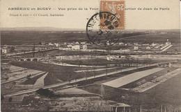 X122288 AIN AMBERIEU EN BUGEY VUE PRISE DE LA TOUR ST SAINT DENIS QUARTIER DE JEAN DE PARIS AVEC LEGENDAGE EN HAUT - Other Municipalities