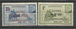 MAURITANIE N° 131 Et 132 NEUF* TRACE DE CHARNIERE / MH - Unused Stamps