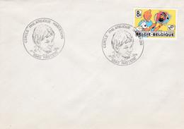 Enveloppe 1944 Timbre BD Bande Dessinée Tintin Hastière - Brieven En Documenten