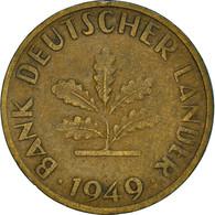 Monnaie, République Fédérale Allemande, 10 Pfennig, 1949, Munich, TTB, Brass - 10 Pfennig