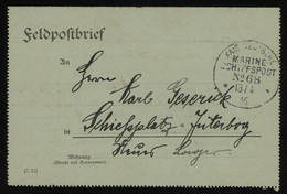 """TREASURE HUNT [01312] Germany 1916 WWI Field Post Cover Sent By Ship Mail To Jüterbog, """"MARINE SCHIFFSPOST N268"""" - Storia Postale"""
