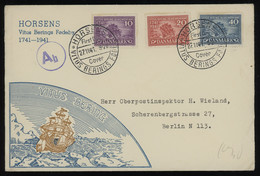TREASURE HUNT [01349] Denmark 1941 Vitus Bering Commemoratives Complete Set On Official FDC From Horsens, Special Pmk. - FDC