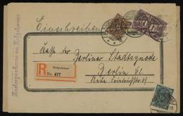 TREASURE HUNT [01390] Germany 1923 Reg. Cover Sent From Hofgeismar To Berlin Bearing 30 M Violet+50 M Green+100 M Violet - Storia Postale
