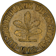 Monnaie, République Fédérale Allemande, 10 Pfennig, 1968, Munich, TB+, Brass - 10 Pfennig