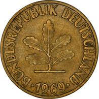 Monnaie, République Fédérale Allemande, 10 Pfennig, 1969, Karlsruhe, TB+ - 10 Pfennig