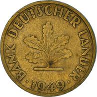 Monnaie, République Fédérale Allemande, 10 Pfennig, 1949, Stuttgart, TB - 10 Pfennig