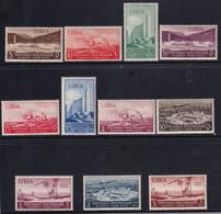 Colonie Libia Mostra Triennale Con Posta Aerea 1940 Serie Completa Sass. 164/A44 MNH** Cv 50 - Libye