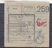 Belgique - COB CF 204 Sur Document - Demi Timbre Oblitéré - - 1942-1951