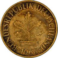 Monnaie, République Fédérale Allemande, 10 Pfennig, 1968, Karlsruhe, TB+ - 10 Pfennig