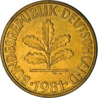 Monnaie, République Fédérale Allemande, 10 Pfennig, 1981, Munich, TB+, Brass - 10 Pfennig