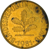 Monnaie, République Fédérale Allemande, 10 Pfennig, 1981, Karlsruhe, TB+ - 10 Pfennig