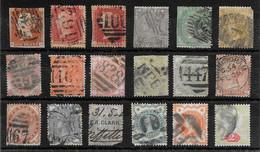 Grande-Bretagne  Lot De 18 TP 1841-1900 O - Non Classés