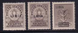 Colonie Recapito Autorizzato 1942 Serie Completa Sass. 3/5 MNH** Cv 60 - Libye