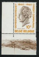 België 1159-V1 ** - Baard Op De Keel - Barbe Sur La Gorge - Bruine Lijnen Over Hoekdatum - Lignes Sur Le Coin Daté - SUP - Curiosités