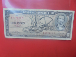 CUBA 10 PESOS 1958 Circuler - Cuba