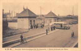 COLOMBELLES Près Caen - S.M.N. - Société Métallurgique De Normandie - Entrée Principale Des Usines - Autobus - Altri Comuni