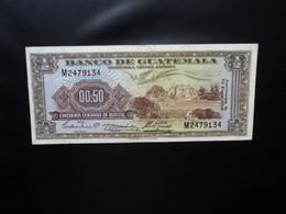 GUATEMALA * : 50 CENTAVOS DE  QUETZAL  13.1.1960    P 41b     TTB ** - Guatemala