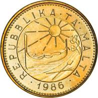 Monnaie, Malte, Cent, 1986, British Royal Mint, TTB, Nickel-brass, KM:78 - Malta