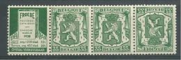 EVBB - Belgique - België - Belgien - Belgium - COB - OBP - PUc 78A + 78B - ** MNH - Pub Pour Catalogue Froede (Ned.) - Publicités