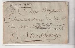 """Lettre Avec Cachet """" Commission De L'Organisation  Et Du Mouvement Des Armées De Terre 1"""", An II / 1794 - 1701-1800: Vorläufer XVIII"""