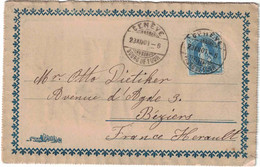Suisse - Genève - Bourg De Four - Carte Postale Vœux - Pour La France - Béziers (Hérault) - 23 Décembre 1901 - Gebraucht