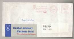 """NB74   GERMANY 1990 """" SALSBURY - DUPHAR """" Veterinary Pharmaceutic EMA, Red Meter, Freistempel - Pharmacy"""