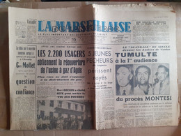JOURNAL LA MARSEILLAISE DU LANGUEDOC GUERRE D' ALGERIE DRAME A SAINTE MARIE DU MONT 22 JANVIER 1958 - Desde 1950