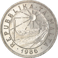 Monnaie, Malte, Lira, 1986, British Royal Mint, TTB, Nickel, KM:82 - Malta