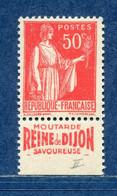 ⭐ France - Variété - YT N° 283 - Couleurs - Pétouilles - Pub Montarde Dijon - Neuf Sans Charnière - 1932 Et 1933 ⭐ - Varieteiten: 1931-40 Postfris