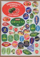 AC - FRUIT LABELS Fruit Label - STICKERS LOT #105 - Frutas Y Legumbres