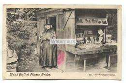 Welsh Stall At Miners Bridge, Betws-y-Coed - Old Caernarvonshire Postcard - Caernarvonshire