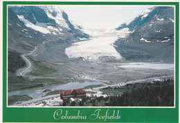 Columbia Icefields, Banff-Jasper Highway Athabasca Glacier Along With Several Smaller Outlet Tongues - Jasper