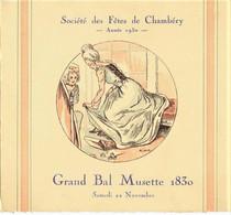 635 - Savoie - CHAMBERY - CARTE D' INVITATION Au GRAND BAL MUSETTE - LE 22 Décembre 1930 -  RARE - Other